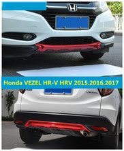 For Honda VEZEL HR-V HRV 2015.2016.2017 BUMPER GUARD BUMPER Plate High Quality 3 Color ABS Front+Rear Auto Accessories(China)