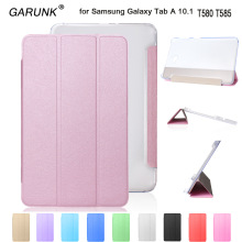 Case for Samsung Galaxy Tab A6 10.1 T580 T585, GARUNK Magnetic Folding Stand Leather Protective Tablet Cover for T580N+Film+Pen