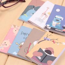 8x6cm 20pages/sheet lovely cartoon image notebook Vintage Retro Notepad Book for Kids Korean Stationery(China)