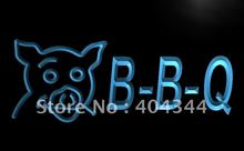 LB499- BBQ Pig Display Cafe Restaurant   LED Neon Light Sign     home decor  crafts