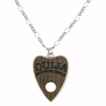 Fashion Wooden Ouija Necklace Pendant Body Jewelry Chain with 24 inch Stainless Steel Chain