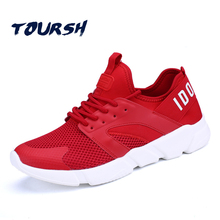 TOURSH 2017 New  Cheap Price Mesh Men Women Running Shoes Comfortable Sneakers Wearable Men Athletic Sport Shoes Women Krasovki