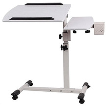 The Nobel double lifting 360 degree rotation lazy notebook comter desk, bedside to table land mobile radiation(China)