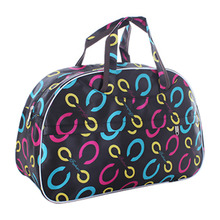 Fashion Waterproof Oxford Women bag Colorful Petals Travel Bag Large Hand Canvas Luggage Bags(China)