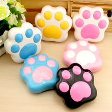 LIUSVENTINA cute bear paws dog paw contact lens case lenses container box