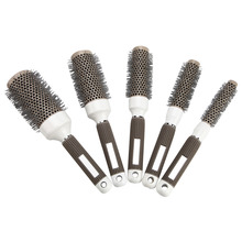 19mm 25mm 32mm 45mm 53mm Ceramic Iron Radial Roll Round Comb Hair Dressing Brush Pro hair Salon Styling Shaping Barrel Equipment(China)