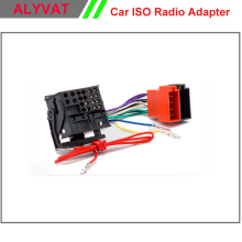 Free Shipping Car DVD Radio stereo ISO cable Adapter for Volkswagen Golf Passat Touareg Touran 2002+ Audi/Skoda/Seat