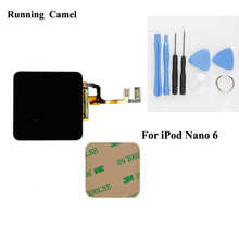 Running Camel For iPod Nano 6 6th LCD Display Touch Screen with Digitizer Assembly Free Tools 3M Adhesive Sticker(China)