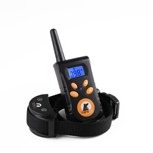 New Rechargeable 500M Remote Waterpoof Blue Screen Pet Dog Training Collar Pet No Bark Collar Bark Stop Collar Free Shipping(China)