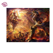 "ANGEL'S HAND 3D DIY Diamond Painting Cross Stitch Diamond Embroidery round ""World of Warcraft"" Picture Diamond Mosaic pattern"