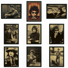 Bob Dylan Vintage Retro rock band music Guitar Matte Kraft Paper Antique Poster Wall Sticker Home Decora(China)