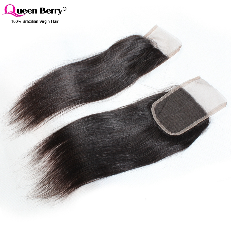 Funmi Hair 8A Grade Virgin Hair 4*4 Lace Closure Brazilian Straight Closure With 150% Density Free/Middle Part Lace Top Closure<br><br>Aliexpress