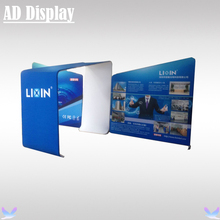 20ft*10ft Exhibition Booth Advertising Tension Fabric Oblique Backwall Trade Show Display Stand With Single Side Banner Printing
