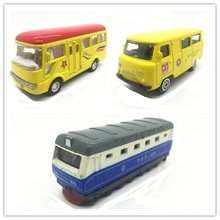 Standard postage Alloy materials 1:64 Metal car model school bus train Park bus kids toys Children like the gift
