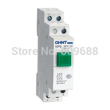 CHINT NP9 Push Button Switch Pushbutton without LED 230v Modular DIN Rail red green