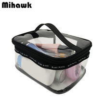 PVC Clear Waterproof Toiletry Bag Cosmetic Makeup Pouch Organizer Travel Necessarie Beauty Brand Accessories Supplies Products