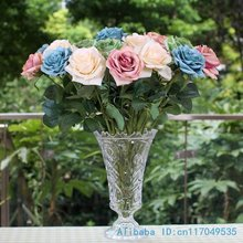 3 PCS Single Stem Fake Silk Flower Artificial Rose Home Decoration Gift F240(China)