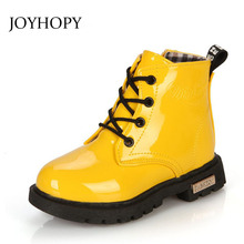 Winter Spring Autumn Children Shoes Snow Boots PU Leather Waterproof Rubber Boots Kids Chaussure Enfant Boys Girls Martin Boots