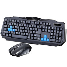 USB 2.4G Wireless Keyboard and Optical Mouse Combo 800-1200-16000 DPI Mice 10m Work Range for Office Home Desktop Laptop PC(China)