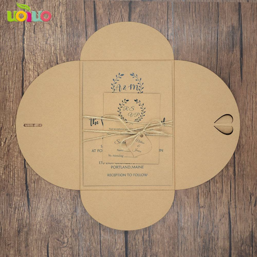 2018 weddings supplier laser cut wedding card models kraft paper rustic  style wedding invitation card RSVP envelop and rope|card paper models|paper  cutting modelswedding invitation card envelope - AliExpress