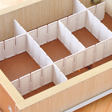 DIY Storage Organizer Storage Box Devider Space Saver Plastic 6Pcs/set Drawer Clapboard Divider Cabinet Storage Tools