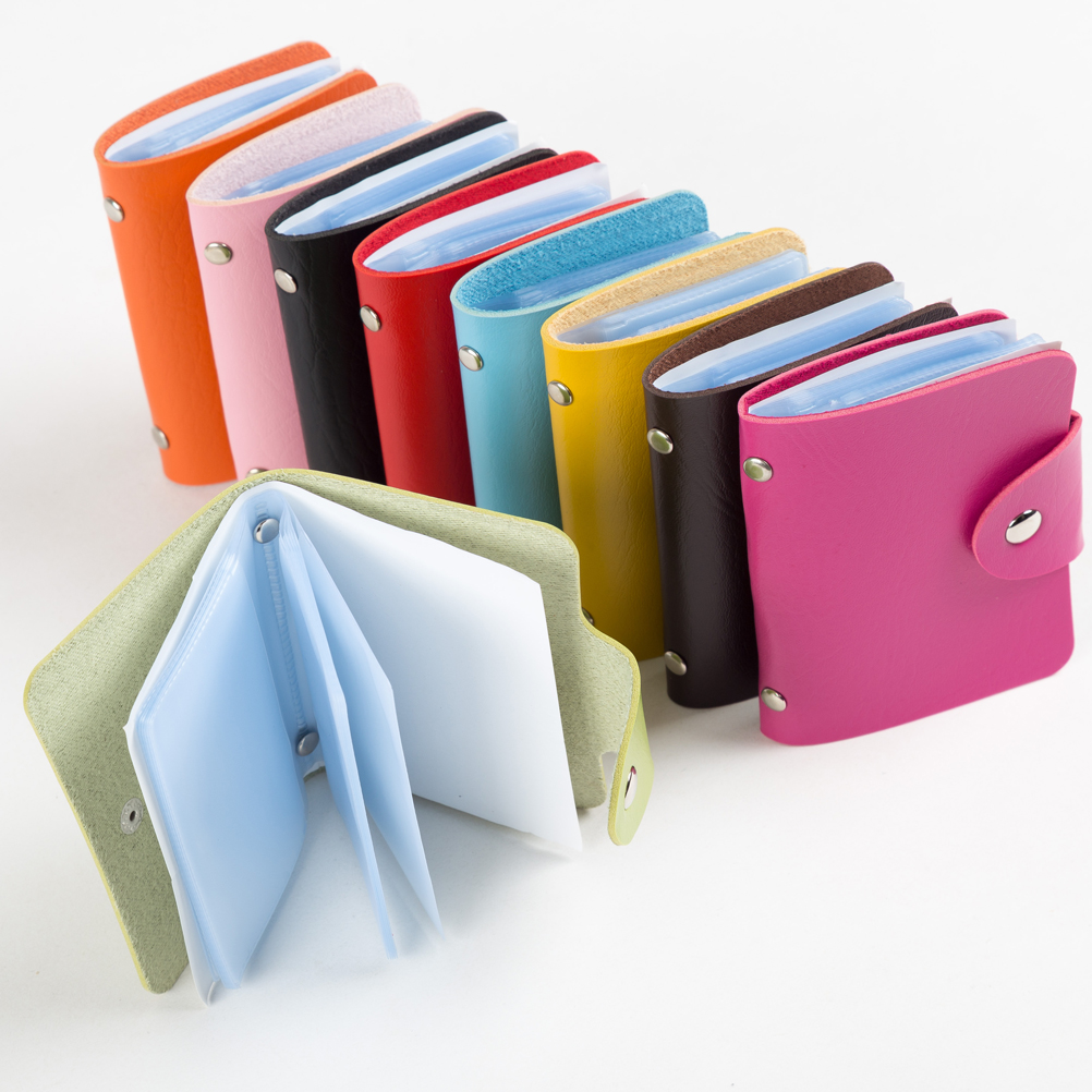 Hot Slim  Pu Leather Pocket  Business ID Credit Card Wallet Holder for 24 Card