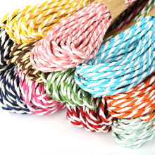 4MM*10Meters Multi Colors DIY Paper Twine Rope String Craft DIY Tags Hanging Accessories Handmade Materials Home Decoration