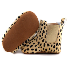 2016 Infant Soft Bottom baby Boots elastic band shoes Baby Boys Girls Moccasins Shoes Baby Prewalker Boots leopard Available