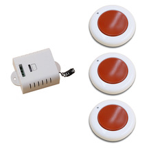 White and Red Wireless Remote Control Switch System 3Transmitter & 1 Receiver with Cover Momenrary Toggle Latched Adjustable(China)