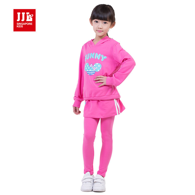 girls suit hoodie sweatshirt + skort size 4-11 years kids casual clothes 2015 new arrival children winter suits kids clothes<br><br>Aliexpress