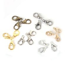 Cheap 10*6mm 50pcs/lot New Fashion Gold Silver Lobster Clasp Jewelry Clasp Necklace Bracelet DIY Jewelry Found Wholesale