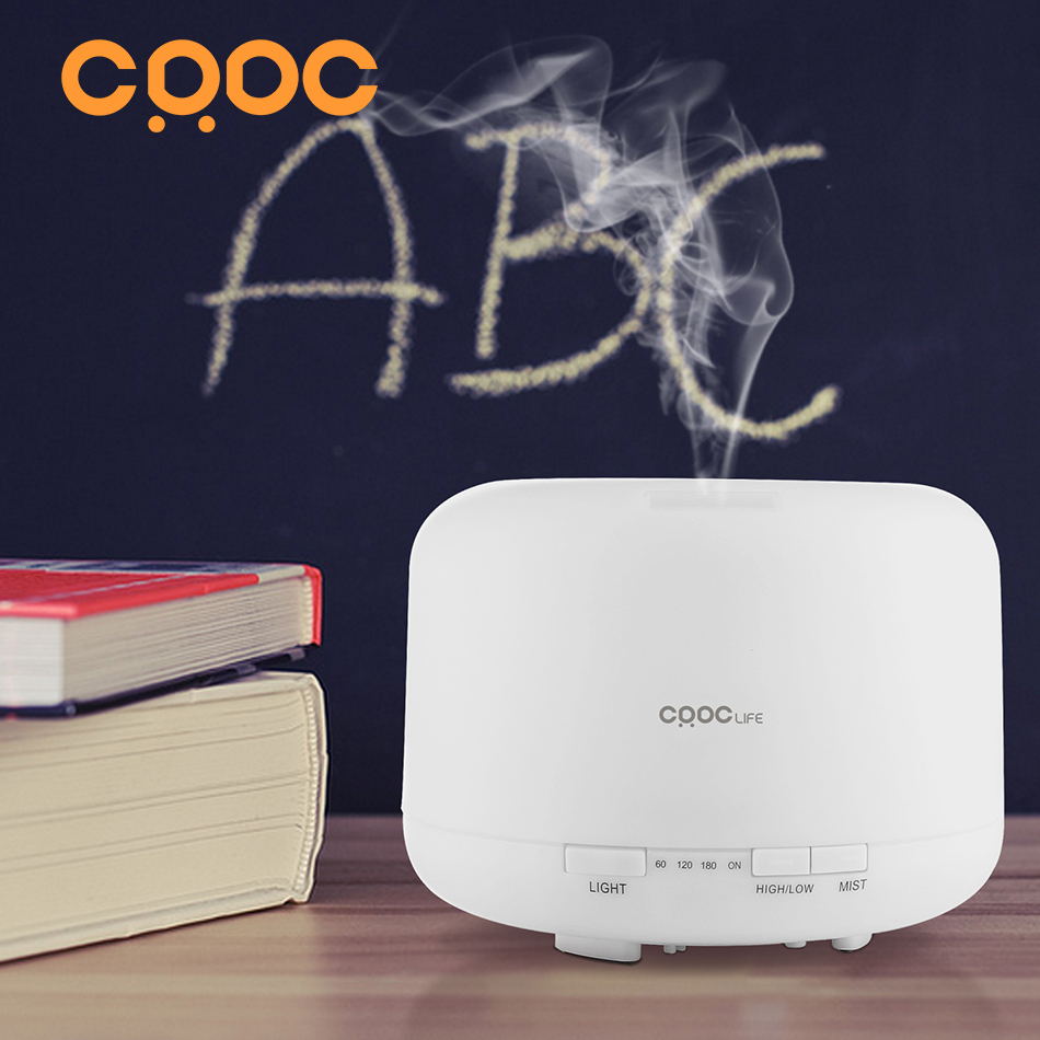 CRDC 500ML Ultrasonic Air Aroma Humidifier With Changing 7 Color LED Light Electric Aromatherapy Essential Oil Aroma Diffuser<br><br>Aliexpress