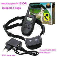 Upgrade 998DR Dog Training Collar H183 Rechargeable Waterproof 300 Meter Vibration Remote Pet Dog Training Collar Support 3 Dogs