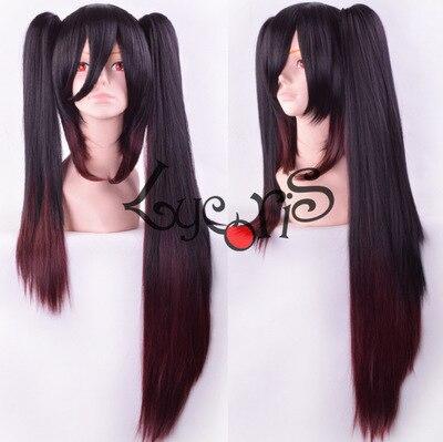 [xiaomo]Date a Life Tokisaki Kurumi Dark brown gradient asymmetric double horsetail cos wig<br><br>Aliexpress