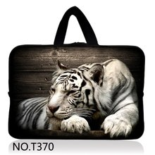 White Tiger Laptop Computer Cover Case Sleeve Notebook Bag For 10 11 12 13 14 15 17 inch HP Dell Thinkpad Sony Asus(China)