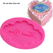 Thank you Letters cake cooking tools wedding decoration Silicone Mould baking Fondant Sugar Craft DIY F0886
