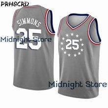 b683c4f9d58 PRHSCRD 2018 19 New Basketball Shirt 23 Jerseys Lebron James 21 Joel Embiid  25 Ben Simmons 2019 New Gray Jersey For Mens Yellow