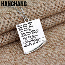 Fashion Jewelry For Best Friends Greys Anatomy Quote Letter Grey Handwriting Letter Pendant Necklace Statement Necklace