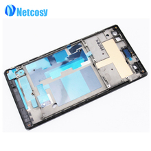 Newest Middle Housing Frame Bezel Cover Case Front LCD Board For Sony Xperia C3 S55t Replacement Parts Repair Part FreeShipping