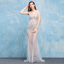 Summer Sexy Dress Runway Fashion Evening Party Women Backless Mermaid Bodycon Club Ladies Beach Bandage Wedding Long Dresses