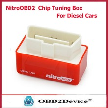 Plug and Drive NitroOBD2 Performance Chip Tuning Box for Diesel Cars red NitroOBD2 Diesel Car chip tunning box(China)