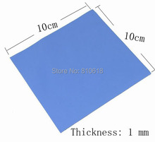New GPU CPU Heatsink Cooling Conductive Silicone Pad 100mm*100mm*1mm Thermal Pad high quality(China)