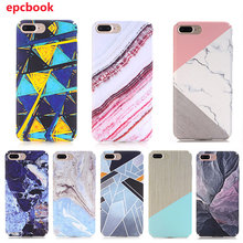 Buy epcbook iPhone 7 Plus case Simple Marble Pattern iphone 8 8Plus Back Cover iphone 6 6plus X Protective Phone shell for $2.28 in AliExpress store