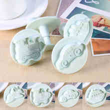 2017 4pcs Car Train Ship Plane Sample Plastic Cookie Cutter Mayitr Fondant Mold Cutter Cake Sugar craft Decor Mould Cake Tools