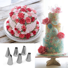2Set Russian Piping Tips Fondant Cake Decorating Tools Icing Piping Nozzles Stainless Steel Nozzle Pastry Bakery Tools Cream Bag