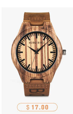 CnwinTech Bamboo Wood Watches Men Casual Clock - BOBO BIRD 15