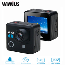 Wimius 4k Action Camera Wifi 20M Mini Sport Helmet FPV Camera Full HD 1080p 60fps Go Waterproof 30m Pro Car DVR For Camera Drone(China)