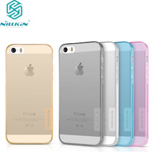 for iphone SE case NILLKIN Nature clear TPU Ultra Thin Case For for apple iPhone 5s Soft Back cover case 4.0 inch for iphone 5(China)