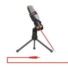 3.5mm Jack Audio Condenser Microphone Studio Mic Sound Recording Wired Microfone with Stand for Radio Broadcasting Singing(China)