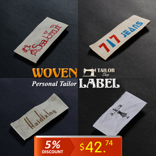 Personalized custom Cotton belt labels for clothing/woven labels custom clothing labels/(1000pcs/lot )garment labels